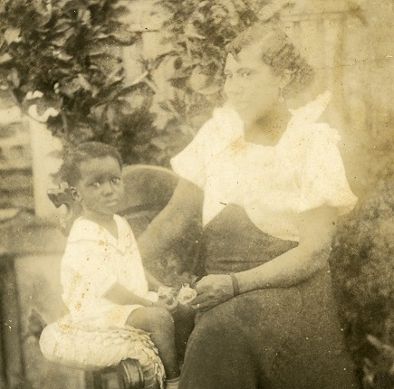 Inez Barker and son