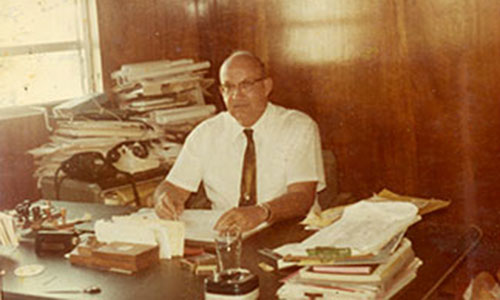 D L Matheson in office