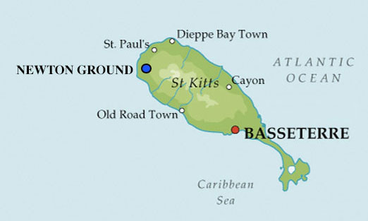 St. Kitts Map | NEWTON GROUND