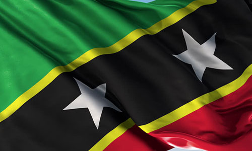 National Flag of St. Chirstopher (St. Kitts) and Nevis
